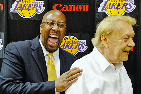 Mike Brown and Jerry Buss.
