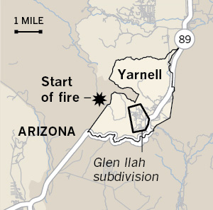 Yarnell Hill Fire Timelines Los Angeles Times