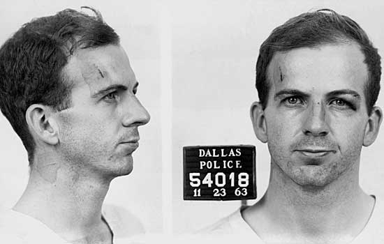 Lee Harvey Oswald's mug shot.