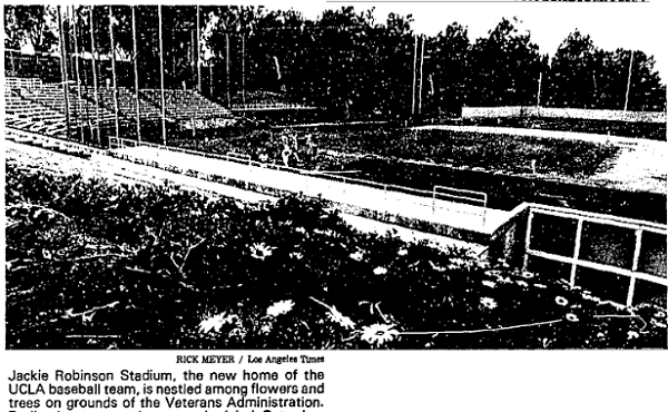 A view of Jackie Robinson Stadium ahead of its 1981 dedication ceremony.