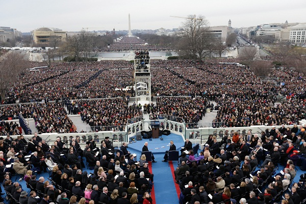 President Obama's second inauguration ceremony.