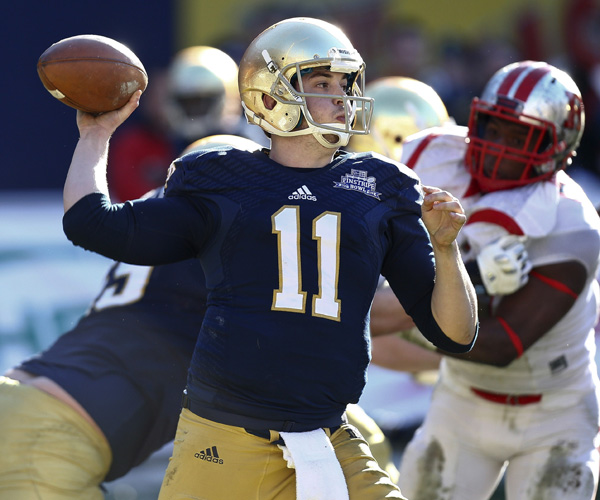 Tommy Rees passed for 319 yards to lead Notre Dame to a 29-16 victory over Rutgers in the Pinstripe Bowl at Yankee Stadium.