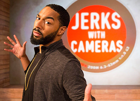 "Host Tone Bell of ""Jerks With Cameras."""