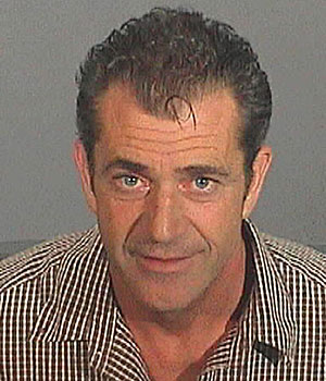 Mel Gibson's booking photo from July 2006.