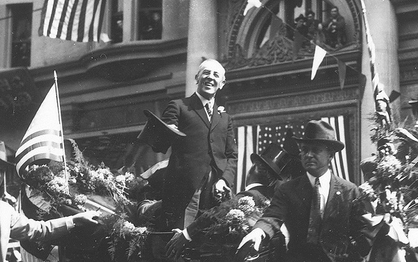 The September 1919 visit of Woodrow Wilson to downtown Los Angeles.