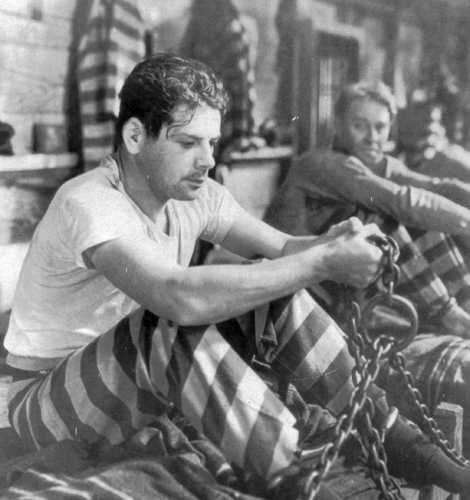 "Paul Muni in a scene from ""I Am a Fugitive From a Chain Gang."""