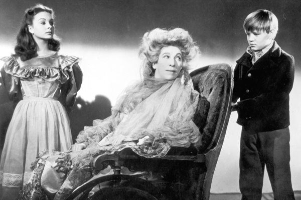 "Jean Simmons, left, Martita Hunt, center, and Anthony Wager in ""Great Expectations."""
