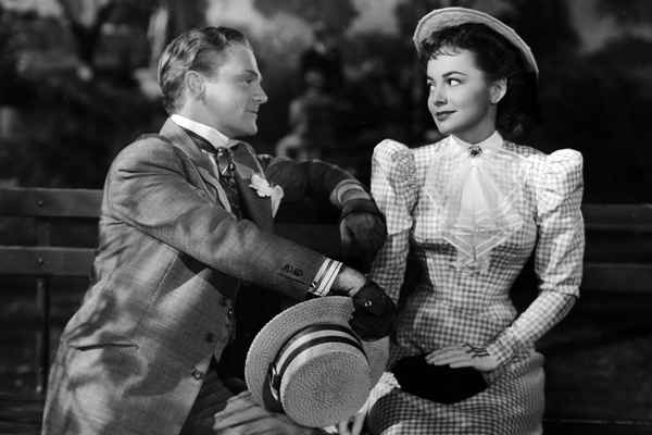 "James Cagney and Olivia de Havilland in ""The Strawberry Blonde."""