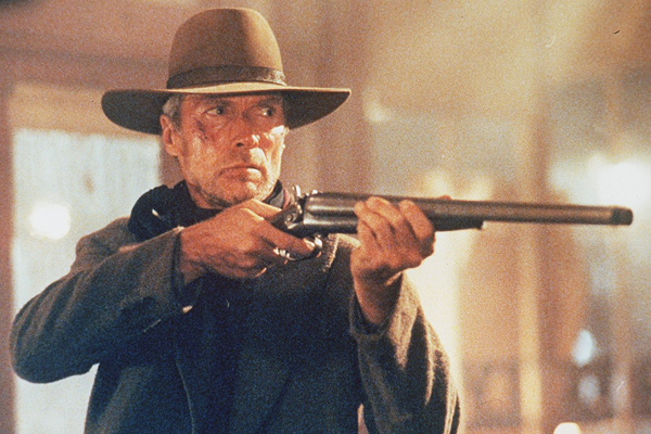 "Clint Eastwood in a scene from ""Unforgiven."""