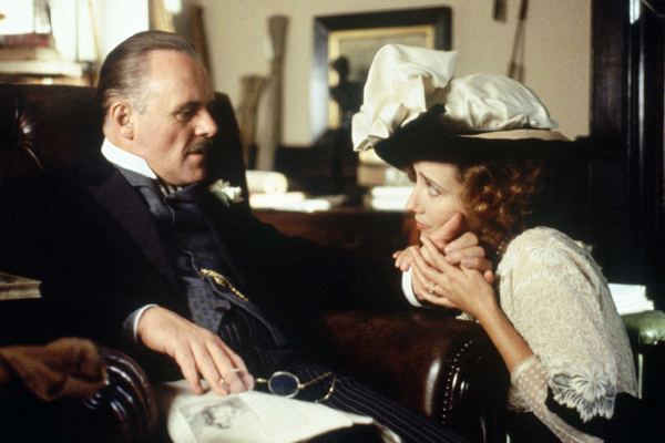 "Anthony Hopkins and Emma Thompson in ""Howards End."""