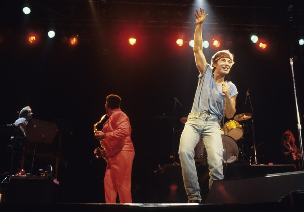 Bruce Springsteen performs in concert circa 1990 in New York City.