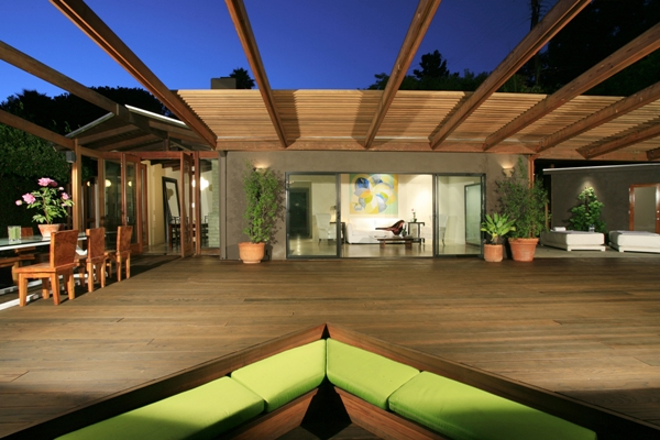 The rear deck of actor Heath Ledger's home in Hollywood Hills.