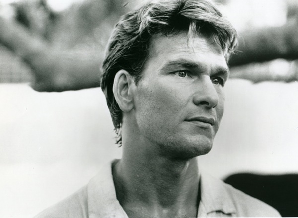 "A 1992 publicity still of Patrick Swayze from his movie ""City of Joy""."
