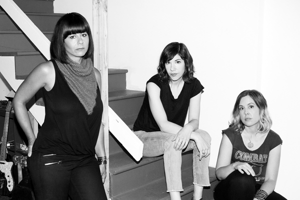 Janet Weiss, left, Carrie Brownstein and Corin Tucker of Sleater-Kinney.