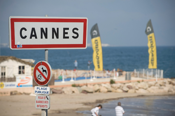 The city limits of Cannes, France.