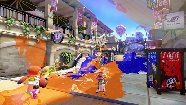"A scene from Nintendo's ""Splatoon."""