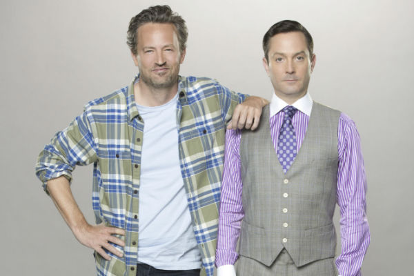 "Matthew Perry, left, and Thomas Lennon star in ""The Odd Couple."""