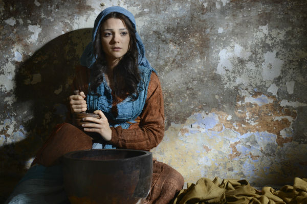 "Actress Kathryn Prescott in ""The Dovekeepers."""