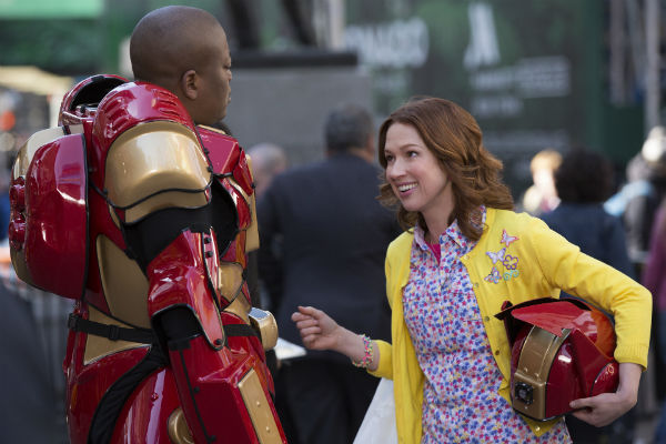 "Tituss Burgess, left, and Ellie Kemper in Netflix's ""Unbreakable Kimmy Schmidt."""