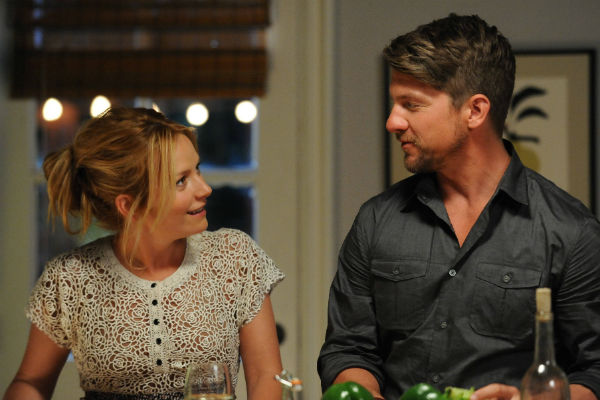 "Becki Newton and Zachary Knighton in ""Weird Loners."""