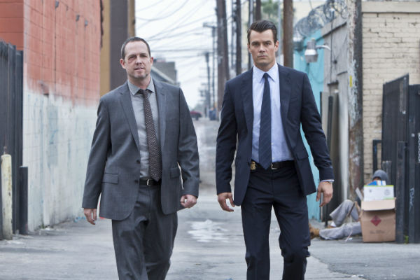 "Dean Winters, left, and Josh Duhamel in ""Battle Creek."""