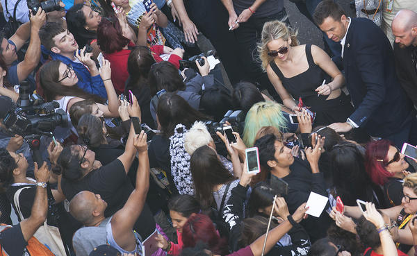 Jennifer Lawrence meets the masses at Comic-Con in San Diego