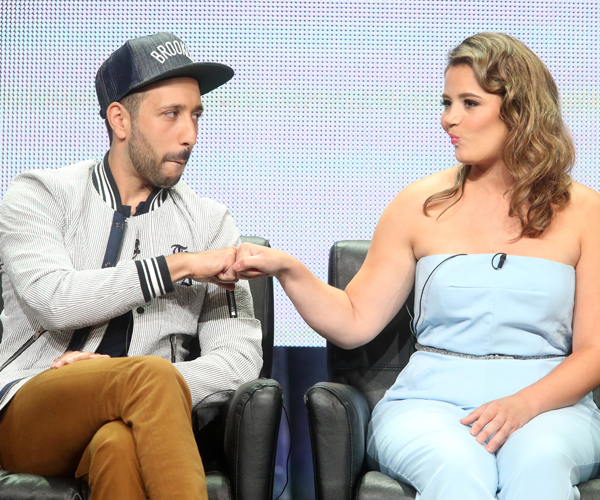 Actors Desmin Borges, left, and Kether Donohue.