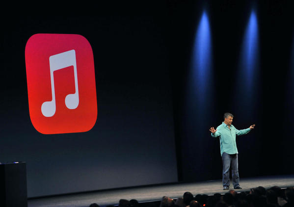 Apple exec Eddy Cue introduces iTunes Radio at Apple's Worldwide Developer Conference (WWDC).