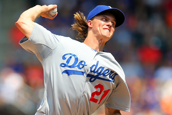Dodgers starter Zack Greinke delivers a pitch during a 3-2 loss to the New York Mets.