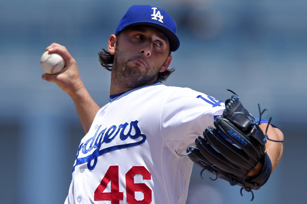 Dodgers starter Mike Bolsinger delivers a pitch during the second inning of an 8-0 loss to the New York Mets.