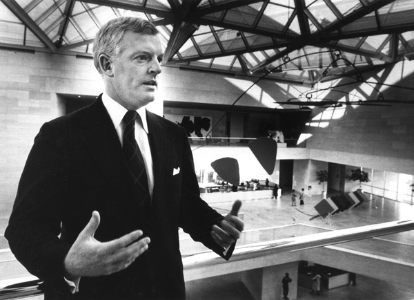 "Earl A. ""Rusty"" Powell III, newly named director of LACMA, is shown in Washington D.C.'s National Gallery of Art in 1980."