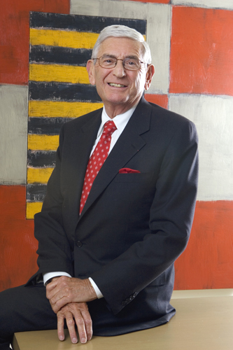 Eli Broad is photographed at his Westwood office.