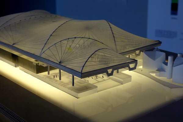 A model of architect Rem Koolhaas' LACMA design.