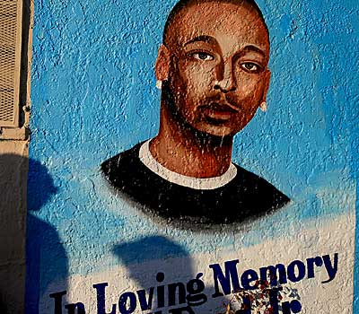 A memorial to Ezell Ford Jr.