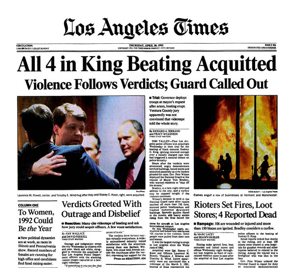Los Angeles Times: Rodney King Beating Reverberated For Years
