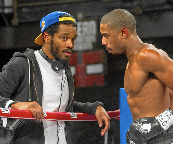 "Director Ryan Coogler, left, and Michael B. Jordan on the set of ""Creed."""