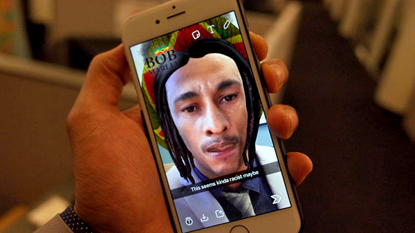 Snapchat faces criticism for a sponsored lens that turns users into Bob Marley.
