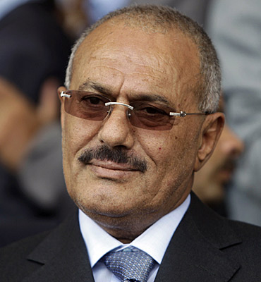 President Ali Abdullah Saleh in May 2011