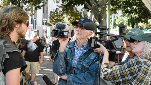 Haskell Wexler, 89, at work filming. (Nov. 8, 2011)