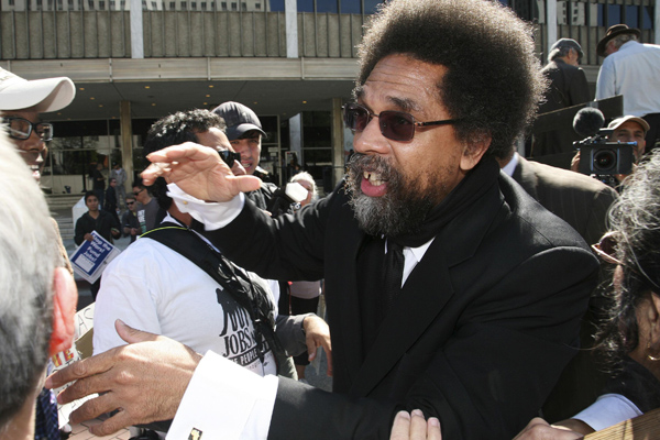 "Cornel West is an outspoken commentator and the author of the books ""Race Matters"" and ""Democracy Matters."""