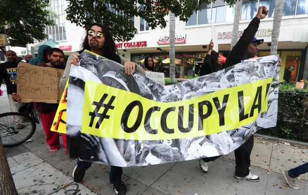 Occupy L.A. protesters have launched regular protests in the financial district since they first set up camp outside City Hall seven weeks ago.