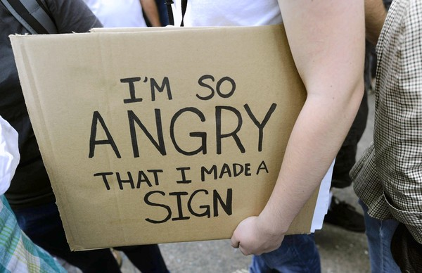 An Occupy Wall Street protester's message in New York. (Oct. 10, 2011)