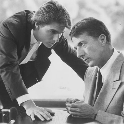 "A scene from the movie ""Rain Man"" with Dustin Hoffman, right, and Tom Cruise."