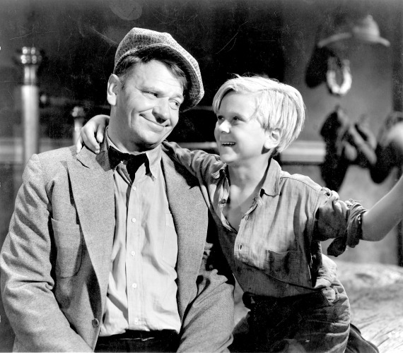 "Wallace Beery, left, and Jackie Cooper starred in ""The Champ."""