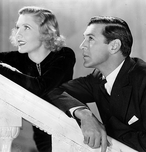 "Jean Arthur and Gary Cooper in ""Mr. Deeds Goes to Town"""
