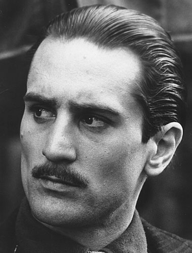 "Robert De Niro as Vito Corleone in ""The Godfather Part II"""