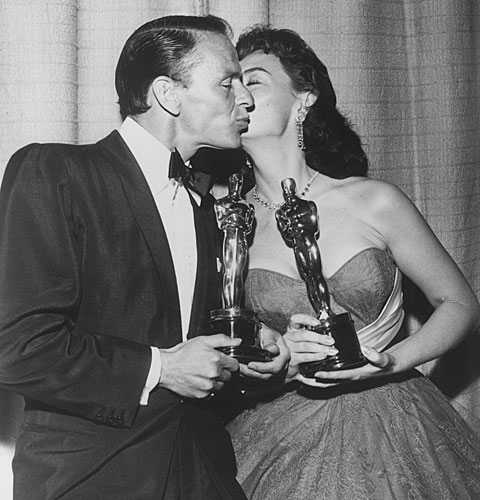 "Frank Sinatra and Donna Reed win for their performances in ""From Here to Eternity."""