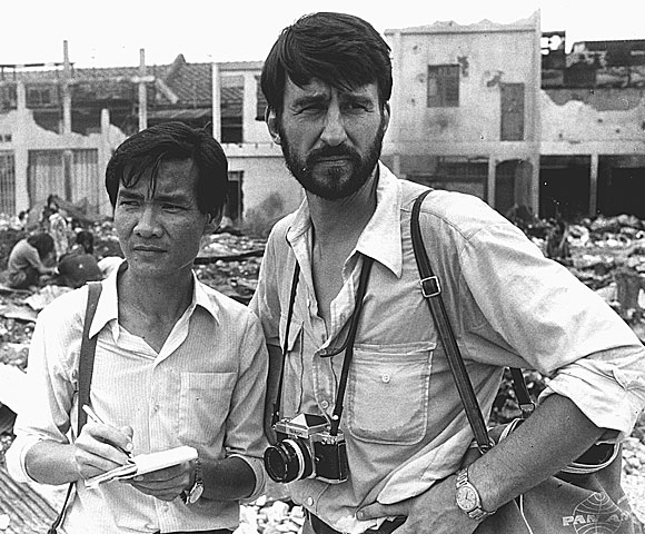 "Haing Ngor, right, and Sam Waterston in ""The Killing Fields"""