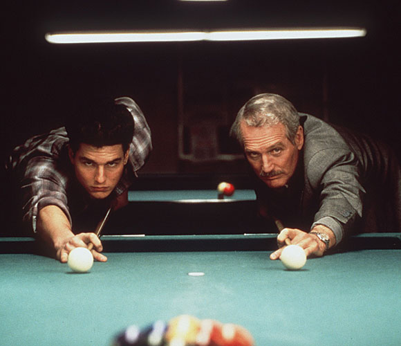 "Tom Cruise, left, and Paul Newman in ""The Color of Money"""