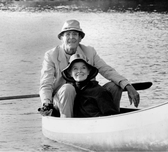 "Henry Fonda and Katharine Hepburn in ""On Golden Pond"""